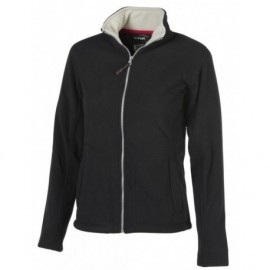 Woman Fleece Jacket Full Zip Black Pen Duick