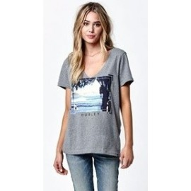 Hurley Tee Shirt Enjoy The Journey Gray