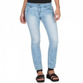 Volcom Women Pant 1991 Straight Ankle Used Blue