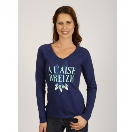 Tee Shirt Long Sleeve A L'Aise Breizh Victoria Electric Blue