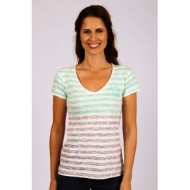 Tee Shirt A L'Aise Breizh Veronica Striped Mint