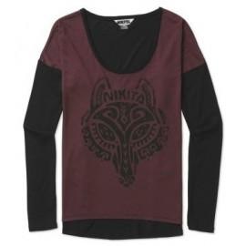 Tee Shirt Manches Longues Nikita Wolf Wine Jet Black