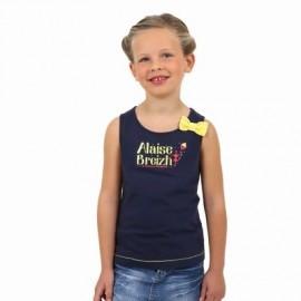 Débardeur Kids Fille A L'Aise Breizh SALLY Bleu Marine