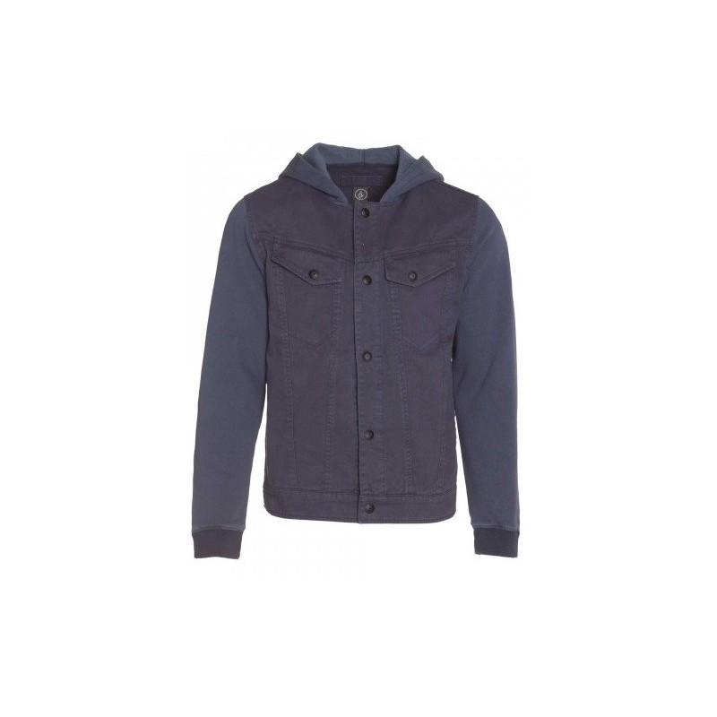 4eb8445276383 Stomper jacket Volcom Vintage Navy - Breizh Rider