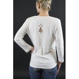 Long Sleeve Tee Shirt BREIZH ANGEL Hermine White