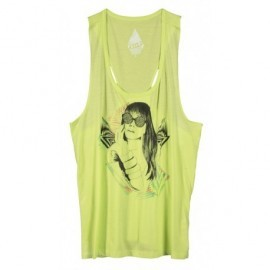 Tee Shirt Volcom Stone Back Shape Tank Top Lime Green