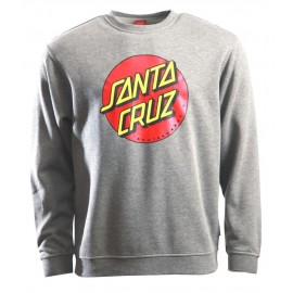 Santa Cruz Fleece Classic Dot Crew Dark Heather