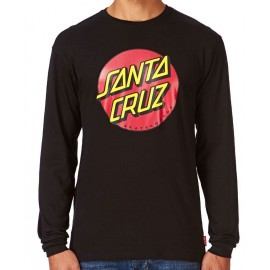Santa Cruz Classic Dot Long Sleeves Tee Shirt Black