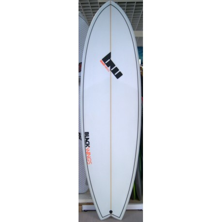 Surf Black Wings 6'0 Fish Fire Cristal Clear
