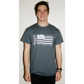Tee Shirt Land Art Flag Heather Grey