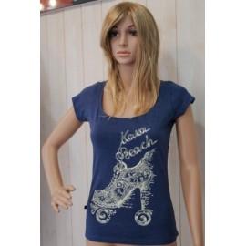 Tee Shirt femme KanaBeach Roller Bleu Nuit