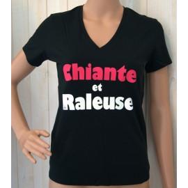 Tee Shirt Femme Land Art Noir Raleuse