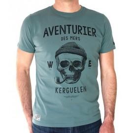 Tee Shirt Homme Stered Aventurier Des Mers Vert