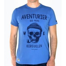 Men's Tee Shirt Stered Aventurier Des Mers Bleu