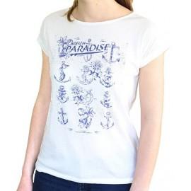 Tee Shirt Femme Stered Paradise Ecru