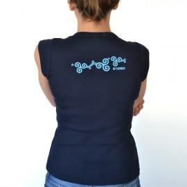 Top Boutonnière Femme Stered Bleu Marine