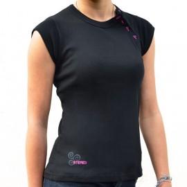Top Women's Boutonnière Stered Black Triskel