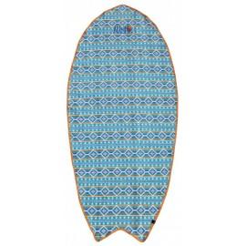 Board Beach Towel All-In Corail Indian Print Blue