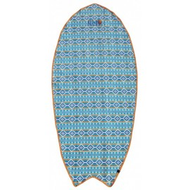 Serviette De Plage Board All-In Corail Indian Print Blue