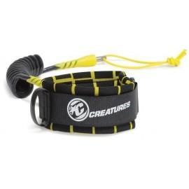 Leash Bodyboard Creatures Bicep Ryan Hardy S Black Yellow