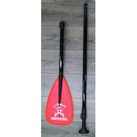 Surf Pistols Paddle Polyester 3 parts Red