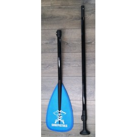 Surf Pistols Paddle Polyester V2 3 parts Blue