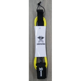 Leash Surf Pistols Cheville 9' Jaune