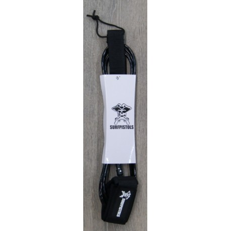 Leash Surf Pistols Ankle 9' Black