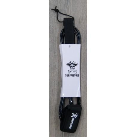 Leash Surf Pistols Cheville 9' Noir