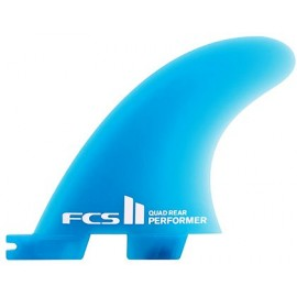 FCSII Performer Neo Glass Medium Quad Fins Rear