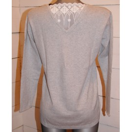 Pull Breizh Angel Only Dentelle Grise