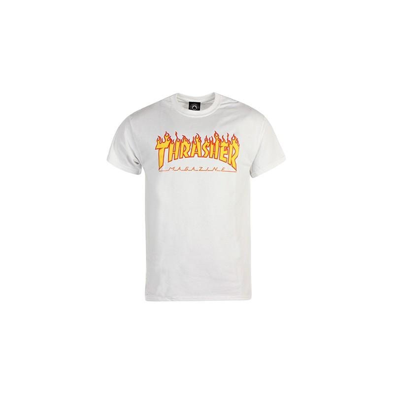 Tee Shirt Thrasher Logo Flame Navy - Breizh Rider 5fcd1d0dc1ac