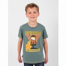 Tee Shirt Kids Boy At Home Breizh Chateaulin Green
