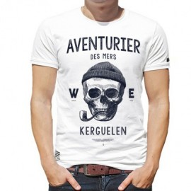 Men's Tee Shirt Stered Aventurier Des Mers White