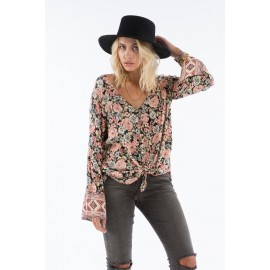 Top Billabong Forget Me Knot Black