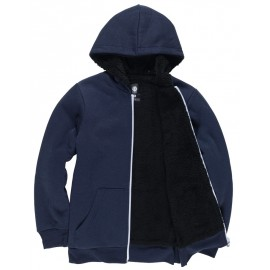 Element Bolton Zip Hoodie Boy Eclipse Navy Lined