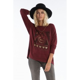 Top Billabong Magical Winter Mystic Maroon