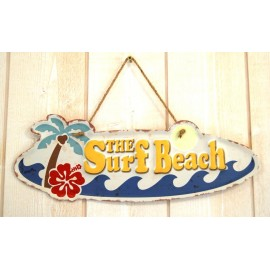 Plate Metal Deco Surfpistols The Surf Beach