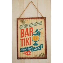 Plate Metal Deco Surfpistols Bar Tiki