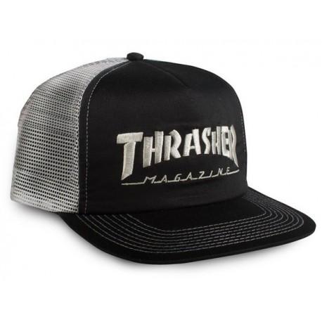 Casquette Thrasher Logo Mesh Black Grey