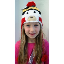 Bonnet Kids HERMAN Justin Peruvian Bear Red