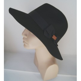 HERMAN Hat Maccarbo Black