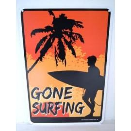 Plaque ALU Déco Surfpistols Gone Surfing Boy