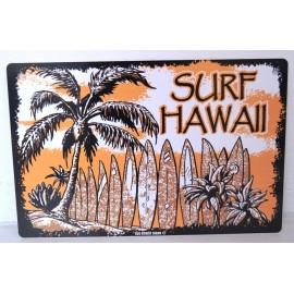 Plaque ALU Déco Surfpistols Surf Palm Tree