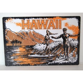 Plaque ALU Déco Surfpistols Hawaii Old School