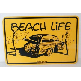 Plaque ALU Déco Surfpistols Beach Life