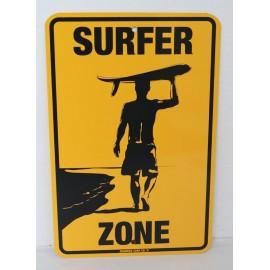 Plaque ALU Déco Surfpistols Surfer Zone