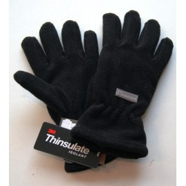 Gloves Herman Kids Fleece Lined Thinsulate Black