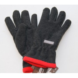 Gants Mixte Herman Polaire Doublé Thinsulate Gris Anthracite