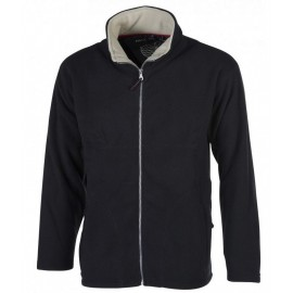 Men Fleece Jacket Full Zip Black Pen Duick